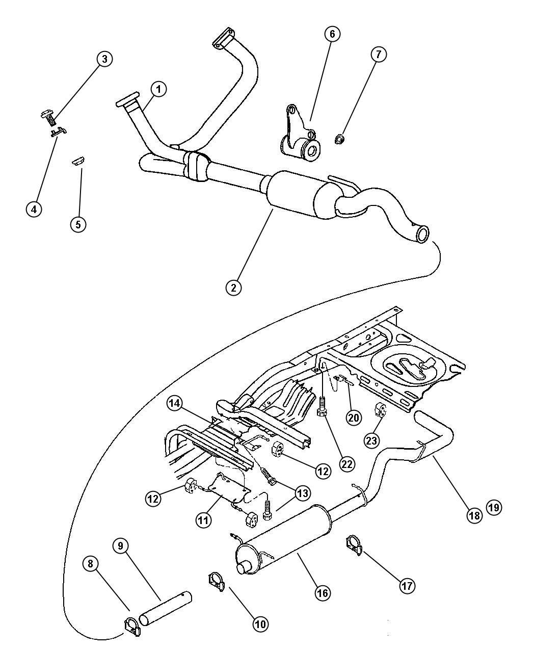 Dodge Dakota Bushing Exhaust Hanger Engines