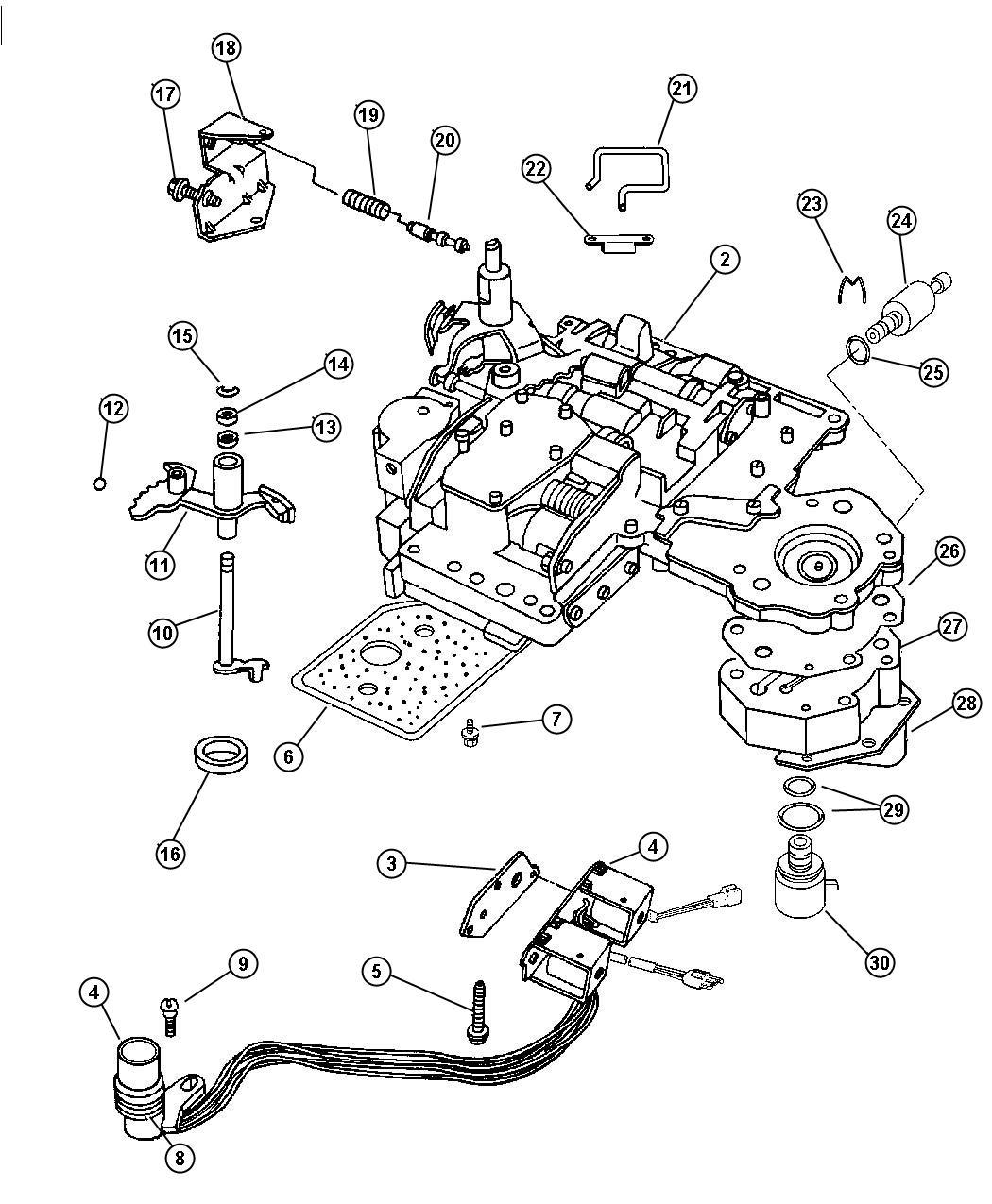 Dodge Dakota Body Valve Transmission