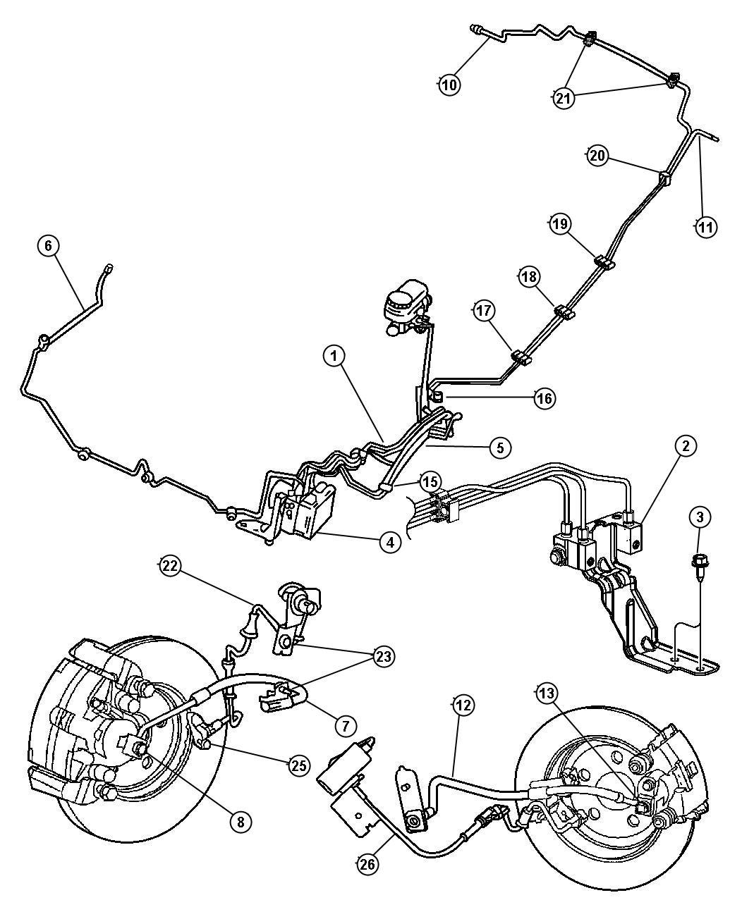 Chrysler Sebring Prop Valve Brake Brb Brakes