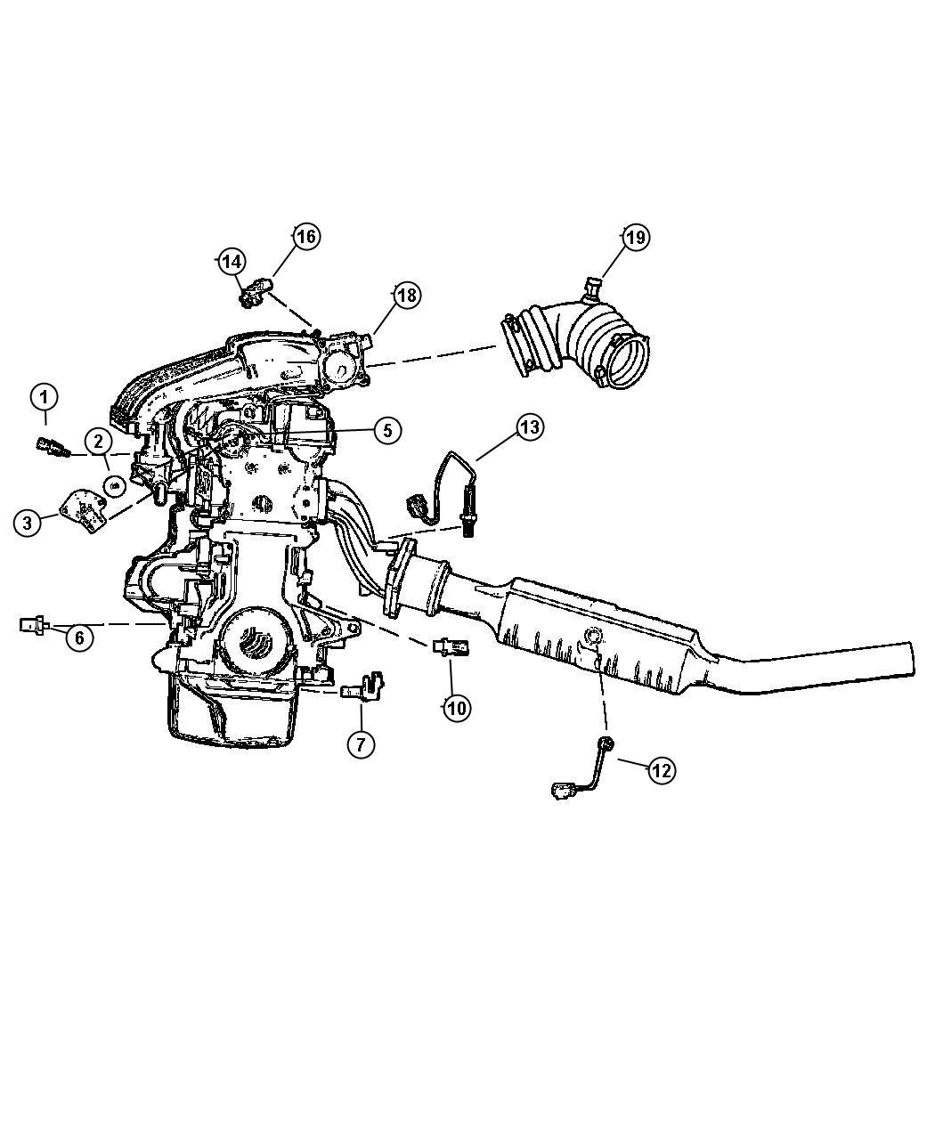 Dodge Stratus Sensor Map Engine Sensors Cooler