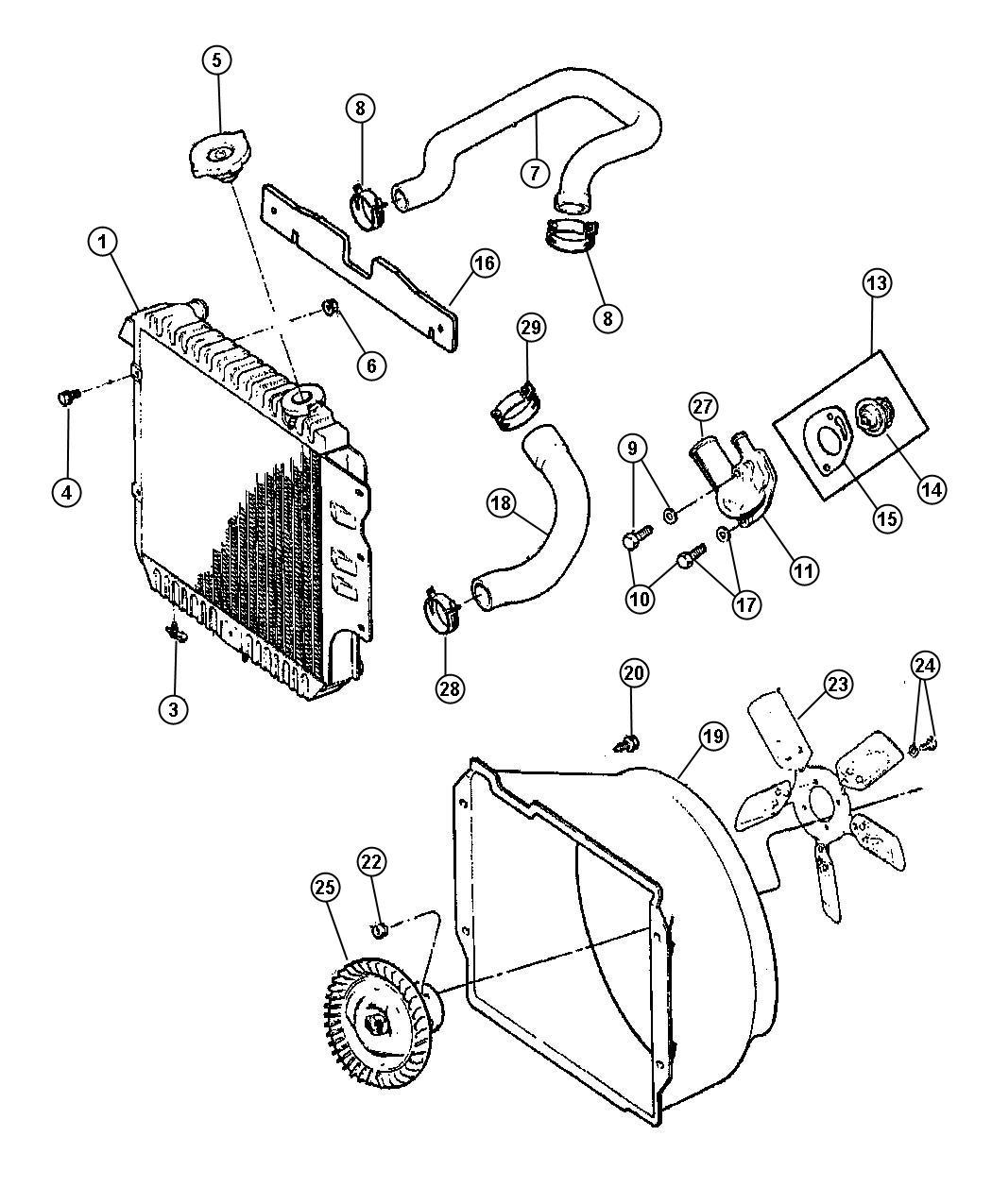 Dodge Avenger Housing Thermostat Rear Radiator