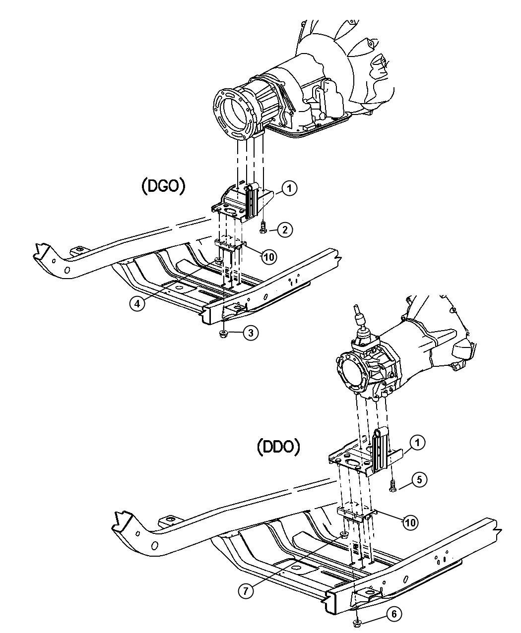 Jeep Wrangler Bracket Transmission Mount Engine