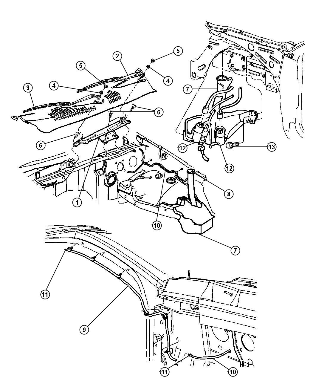 Jeep Grand Cherokee Clip Brake Line Retainer