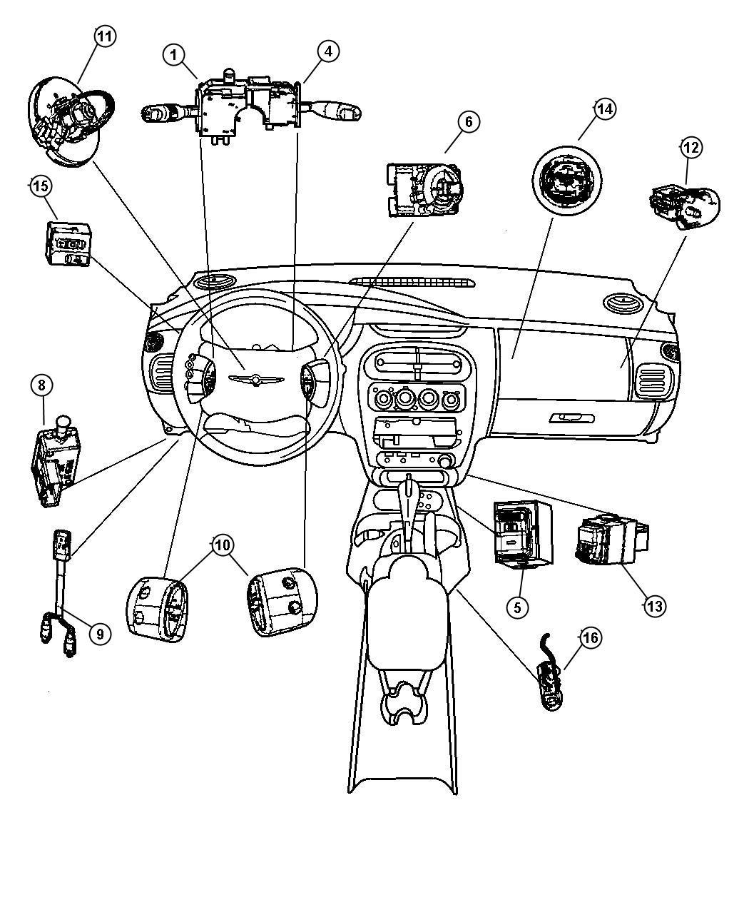 Dodge Neon Clockspring Nhm 5 Circuit With Airbag