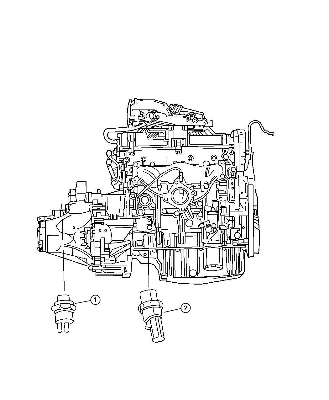 Chrysler Voyager Sending Unit Switch Oil Pressure Ees