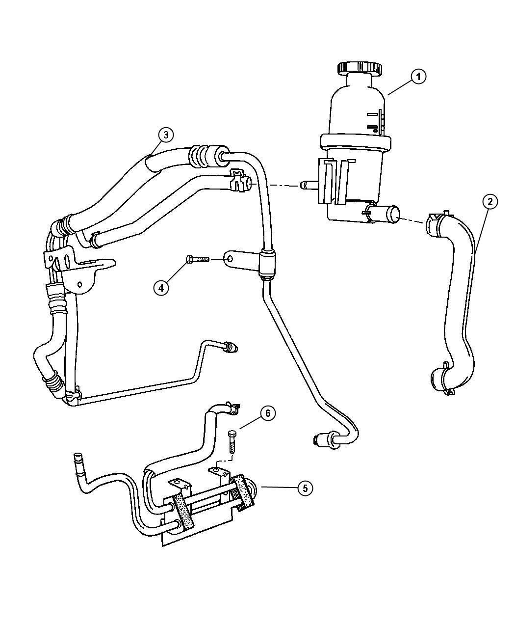Chrysler 300 Line Power Steering Pressure Hoses