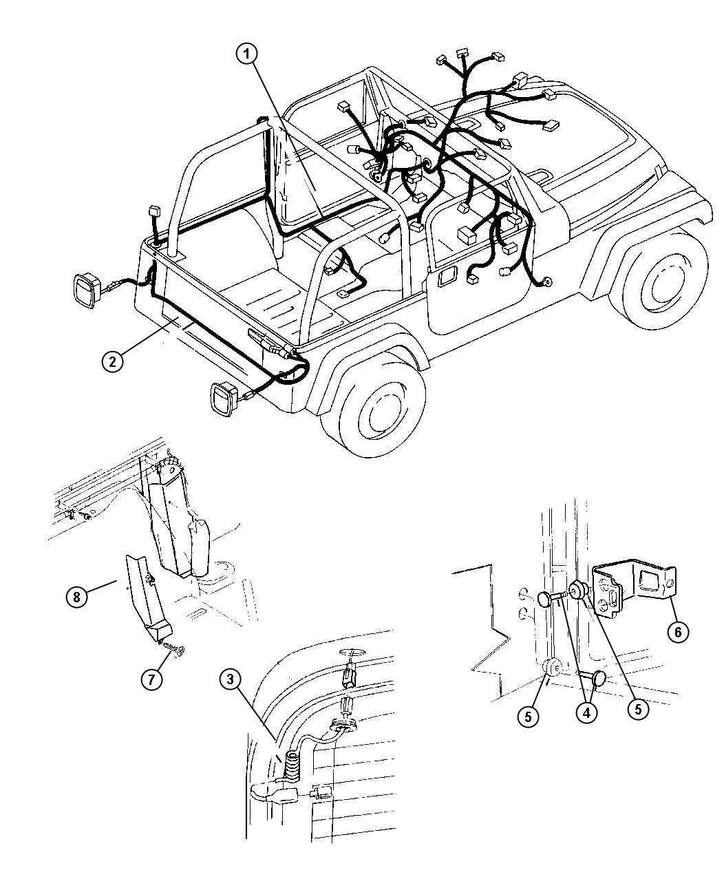 Dodge Nitro Cover Wiring Protector Body Upper