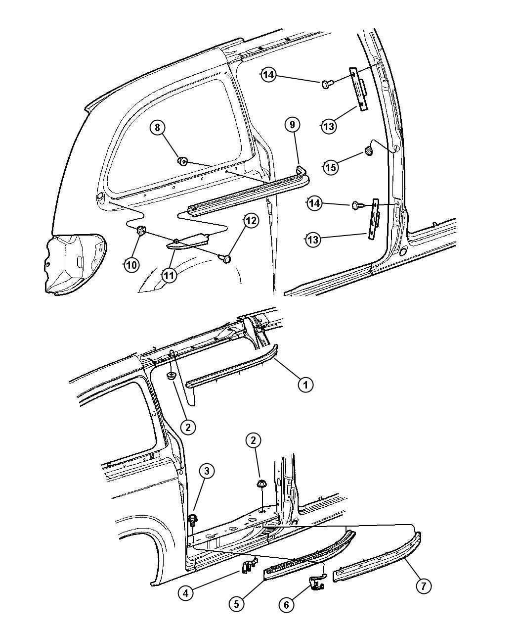 Chrysler Pt Cruiser Stabilizer Sliding Door Body