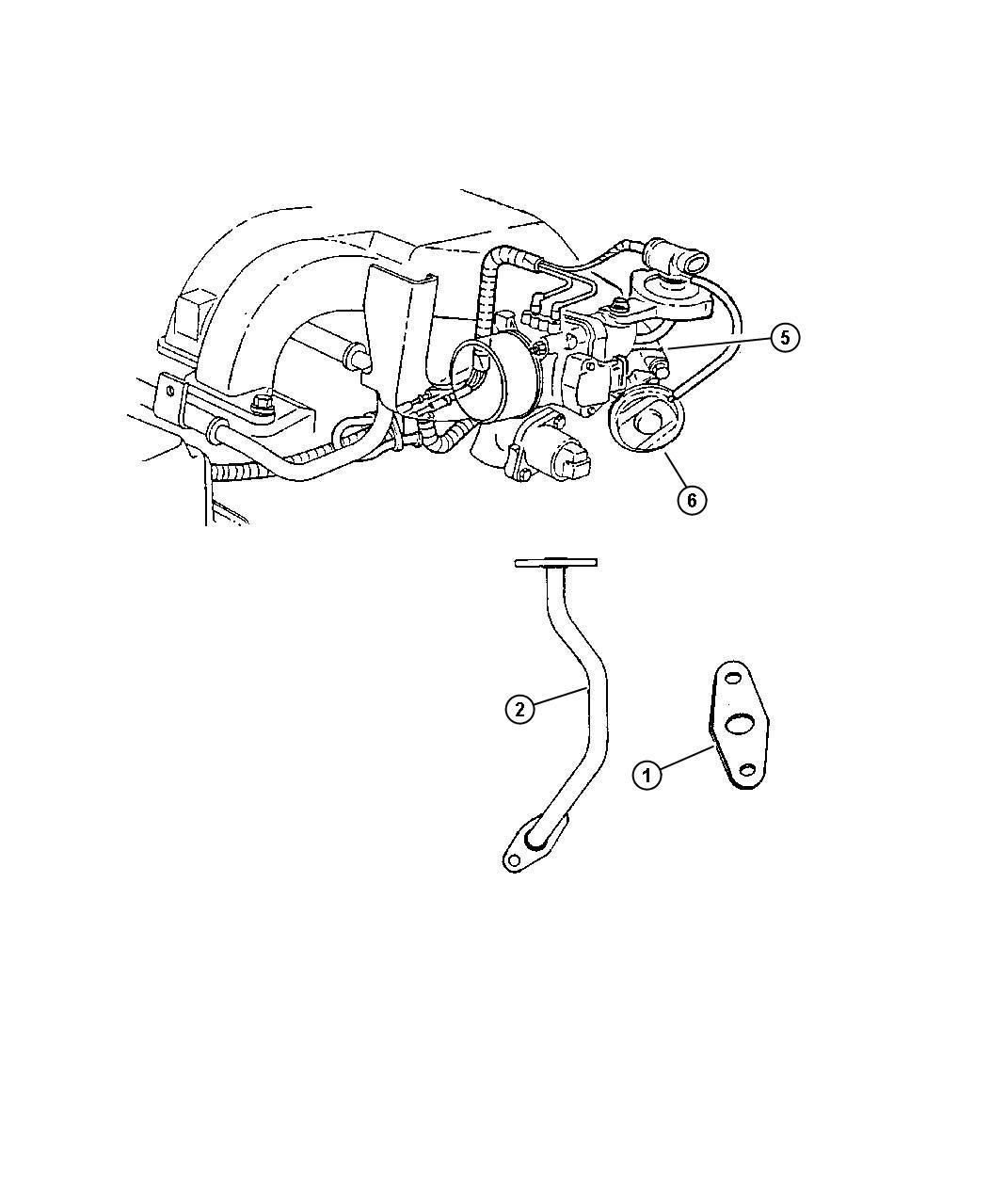 Dodge Challenger Gasket Egr Tube Flange 2 7l V6