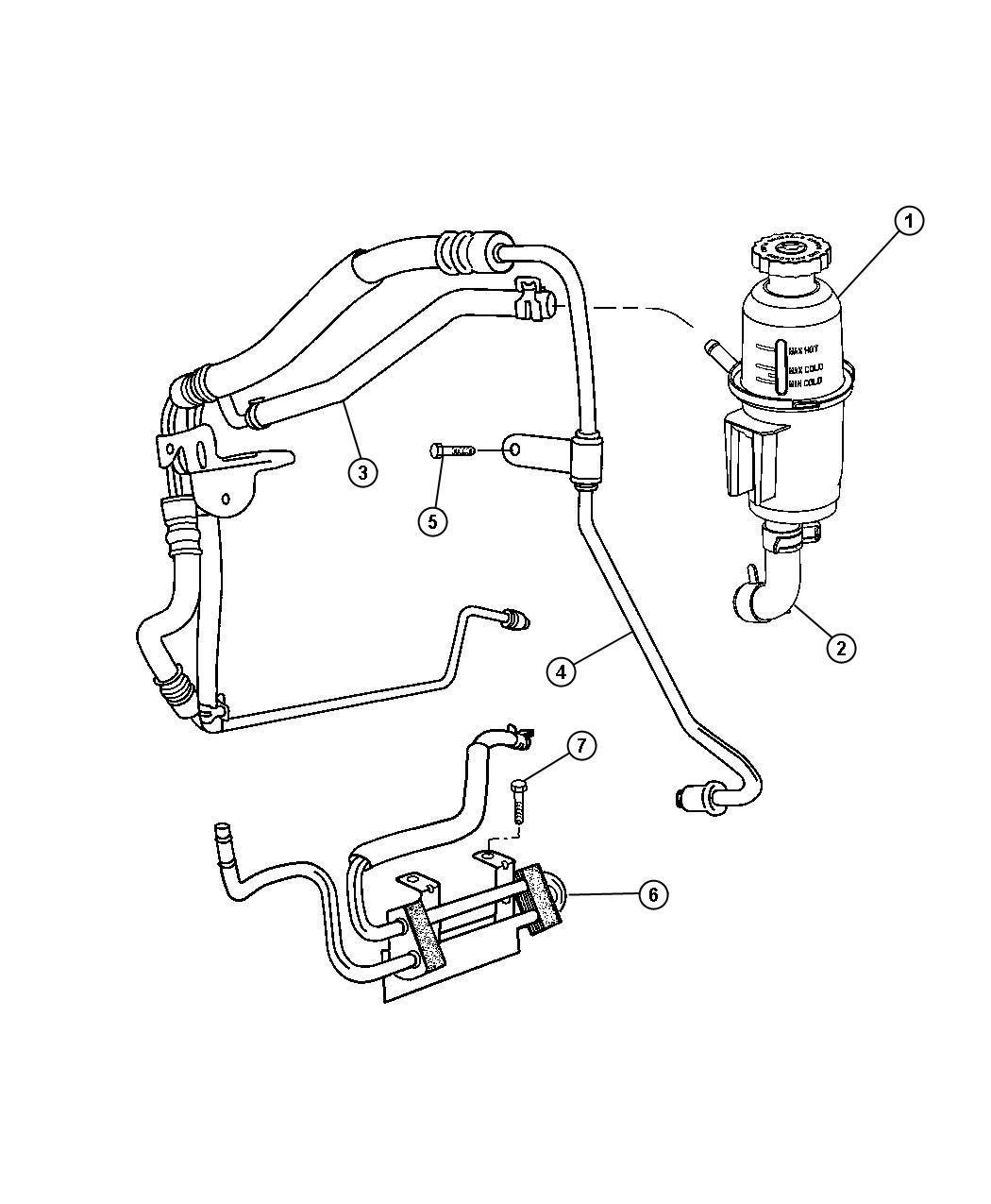 Dodge Ram Hose Power Steering Pressure Rhd