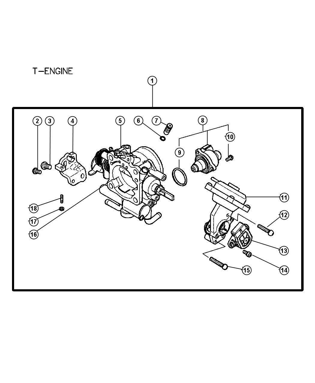 Dodge Stratus Screw Throttle Body Engine Mmc