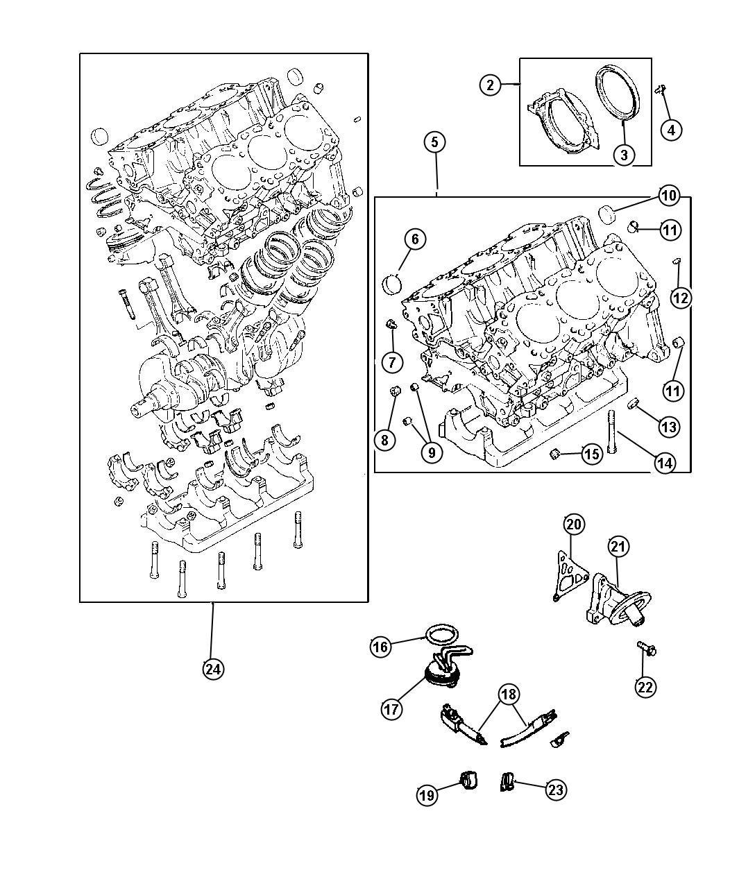 Dodge Caravan Block Short Contains Of Crank Rods
