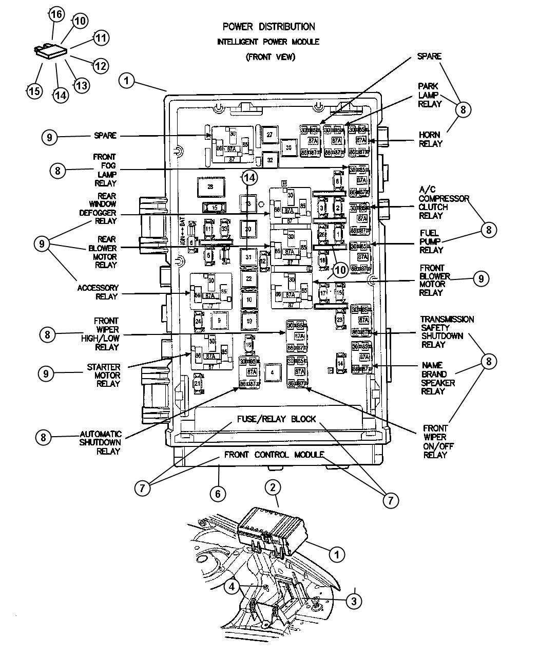 Dodge Nitro Power Distribution Center Infinityfog