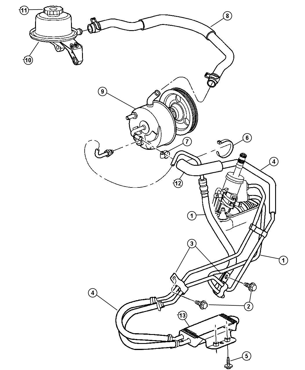 Dodge Nitro Cooler Power Steering Without Heavy