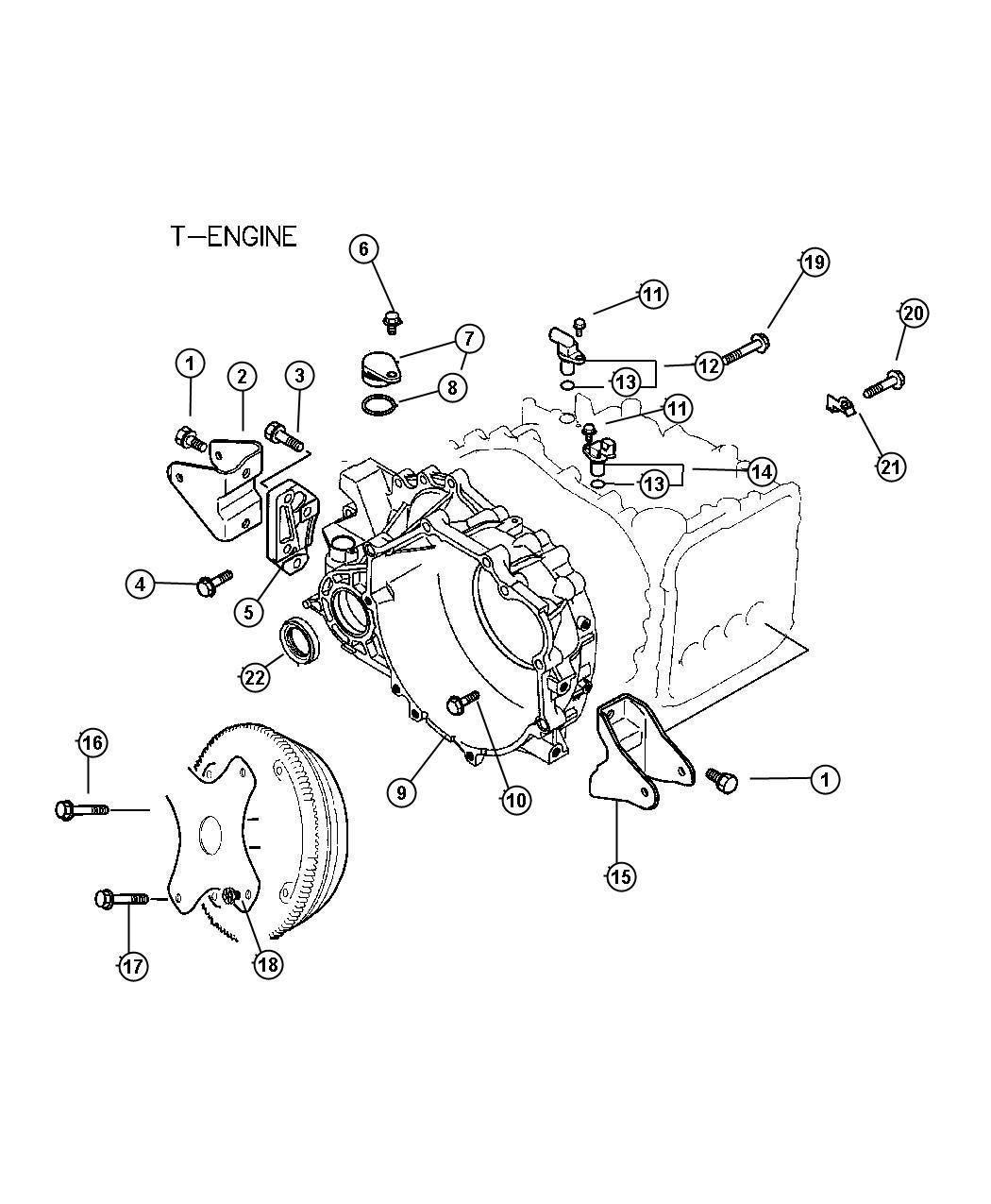 Chrysler Sebring Sensor Transmission Output Speed