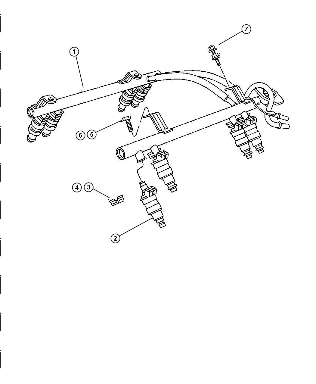 Jeep Grand Cherokee Clip Fuel Injector