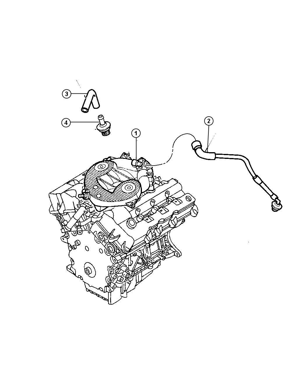 Dodge Stratus Hose Make Up Air Ventilation