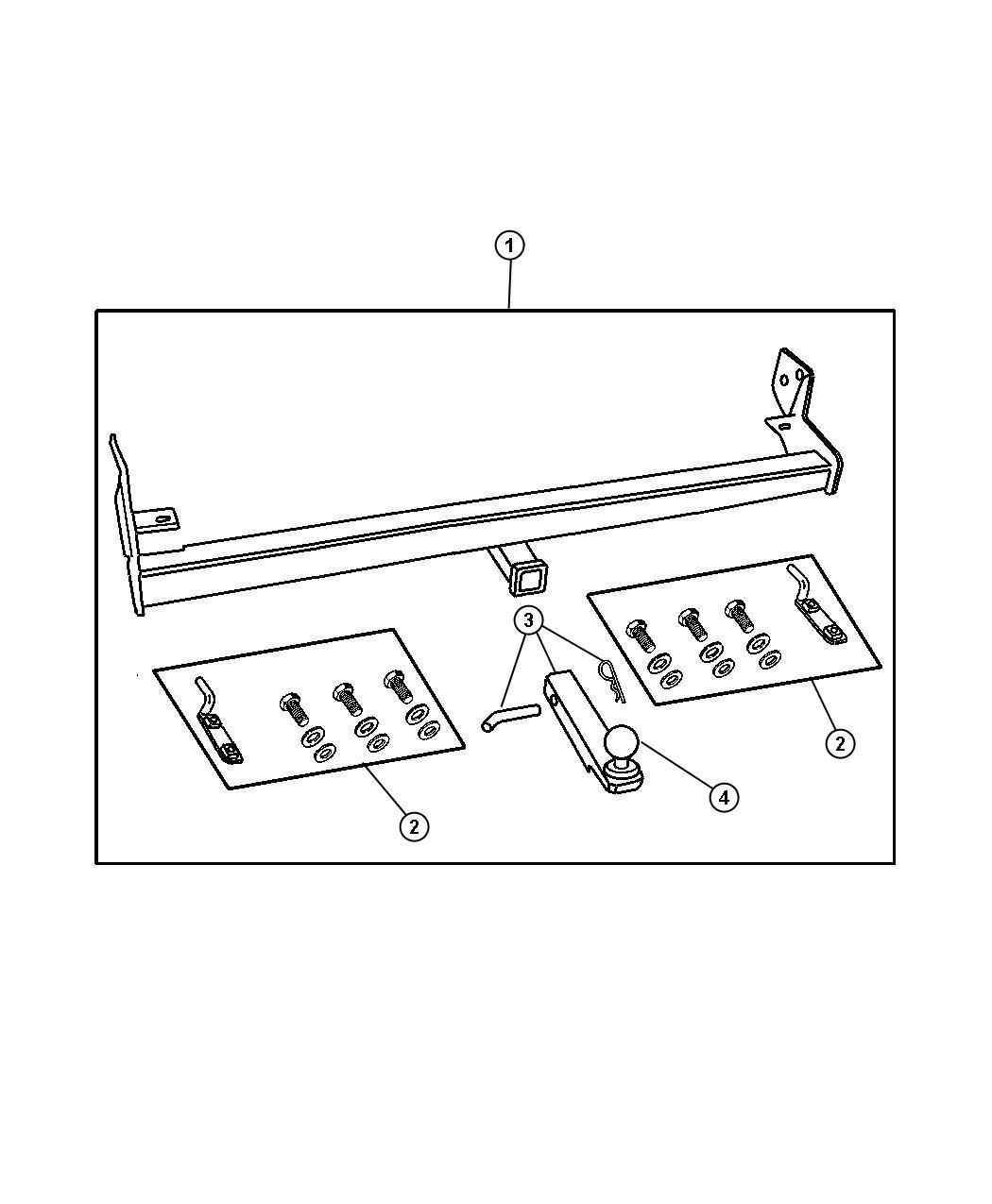 Dodge Grand Caravan Adapter Kit Drawbar Attachment Ball Mount Includes Drawbar Pin And