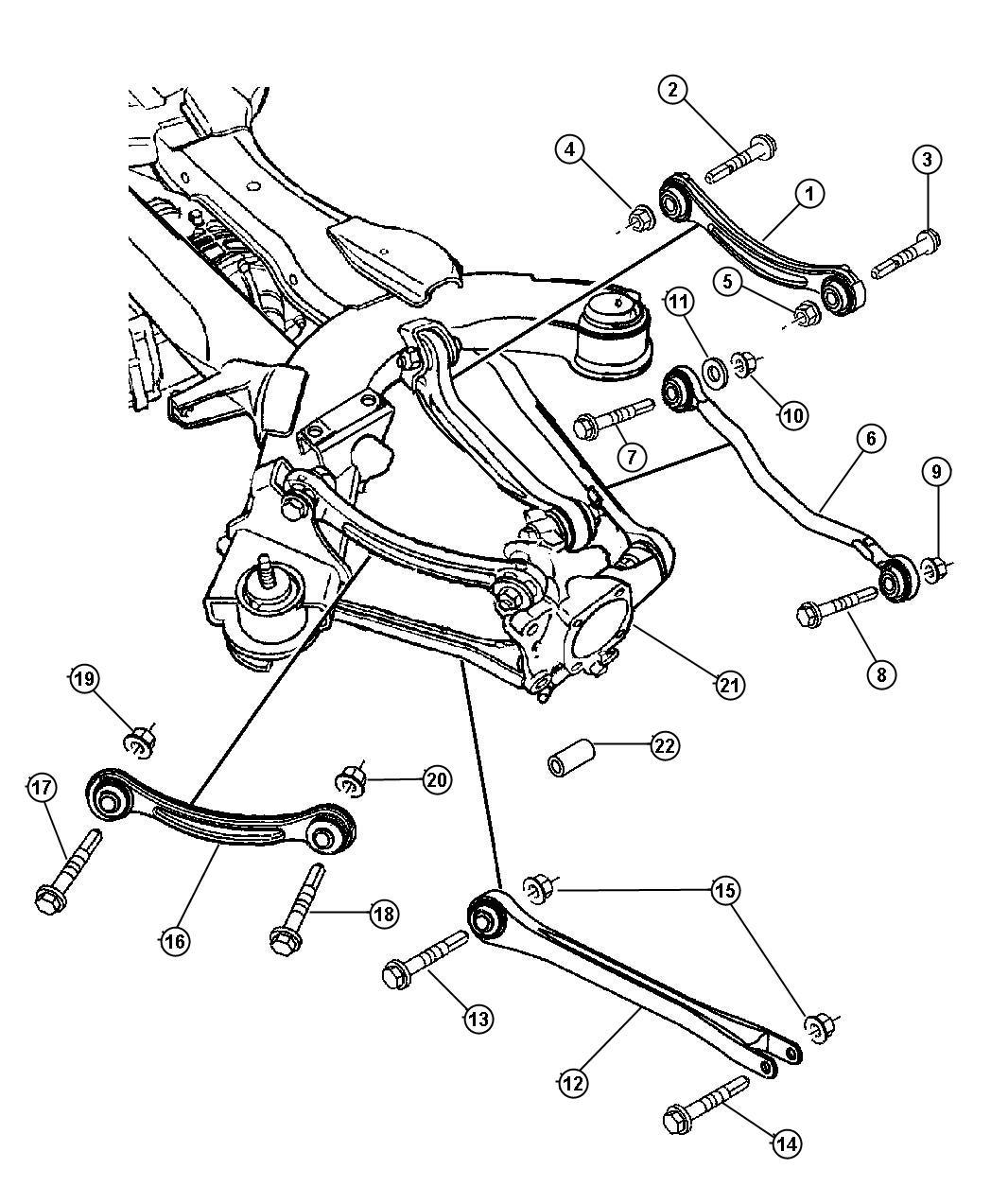 Chrysler Pacifica Toe Link Suspension Rear