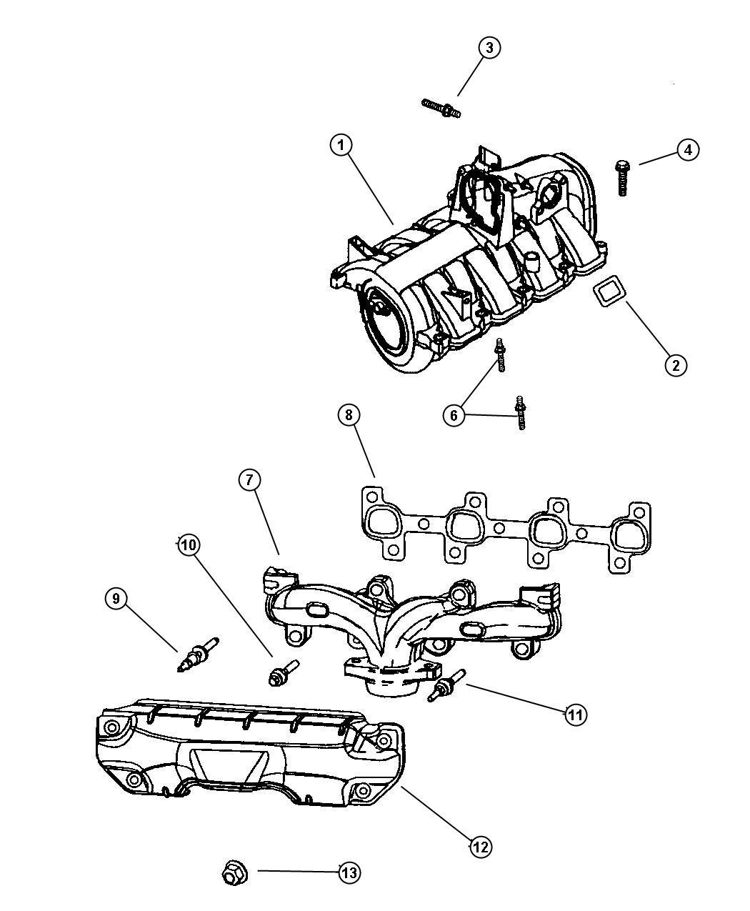 Dodge Ram Manifold Exhaust Left