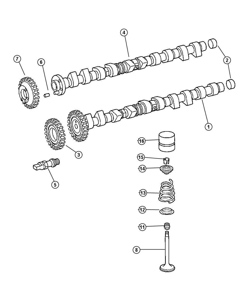 Dodge Sprinter Camshaft Exhaust Valves Engine