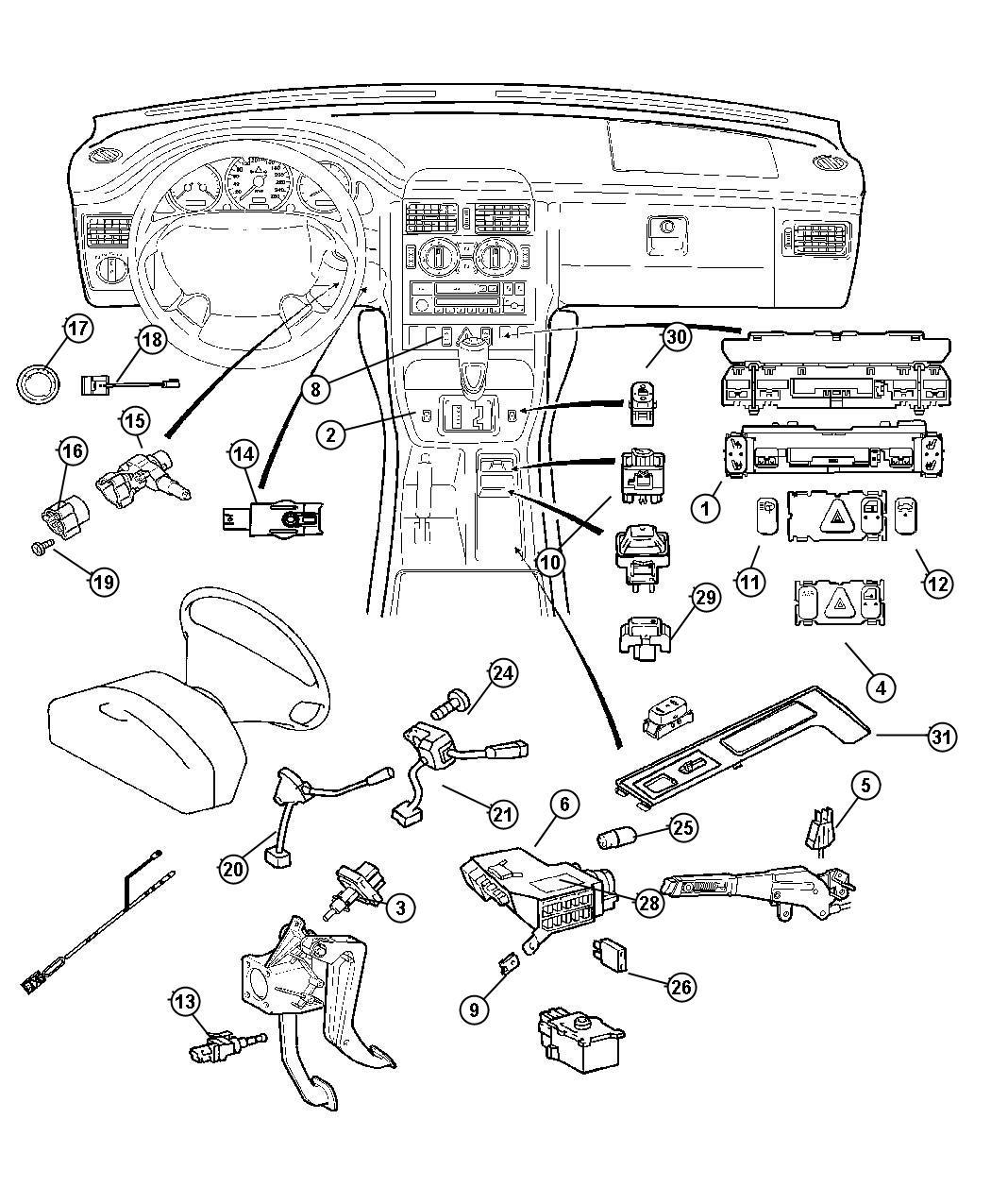 Chrysler Crossfire Switch Warning Buzzer