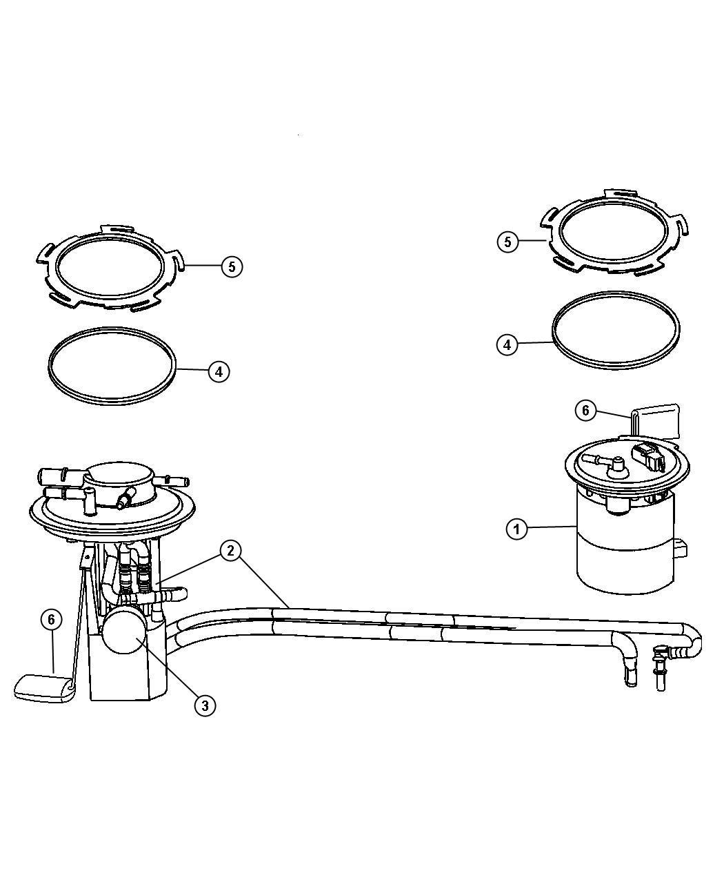 Chrysler Pacifica Cam Nut Ring Fuel Pump Module