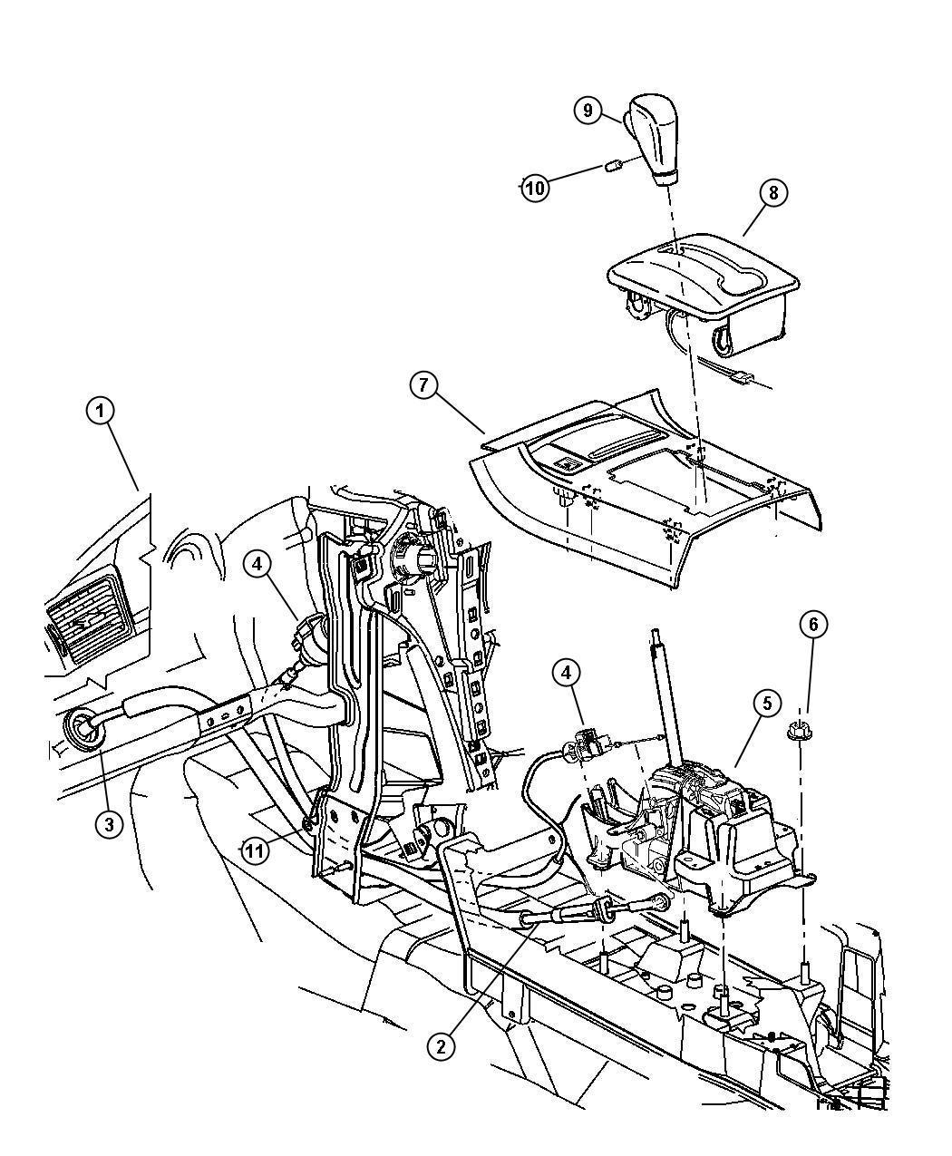 Chrysler Pacifica Knob Gearshift Trim All Trim Codes
