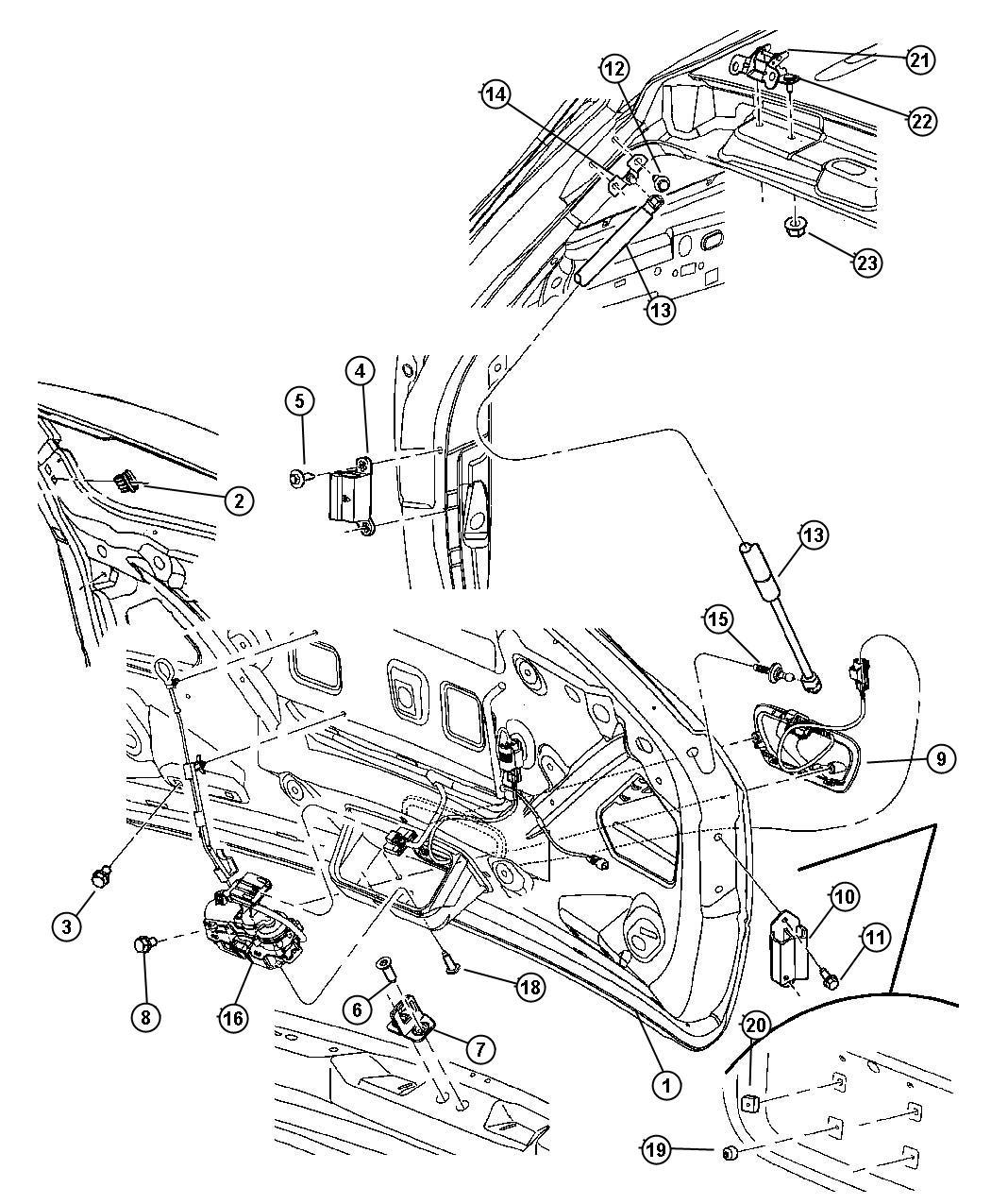 Chrysler Pacifica Actuator Power Latch Power Door