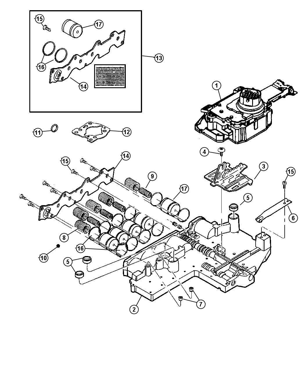 Chrysler 300 Valve Body Assembly Remanufactured