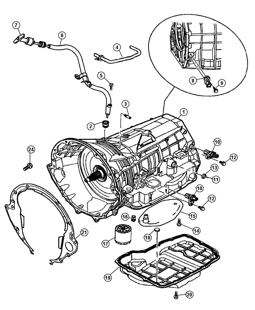 Dodge Durango Tube Transmission Oil Filler Related