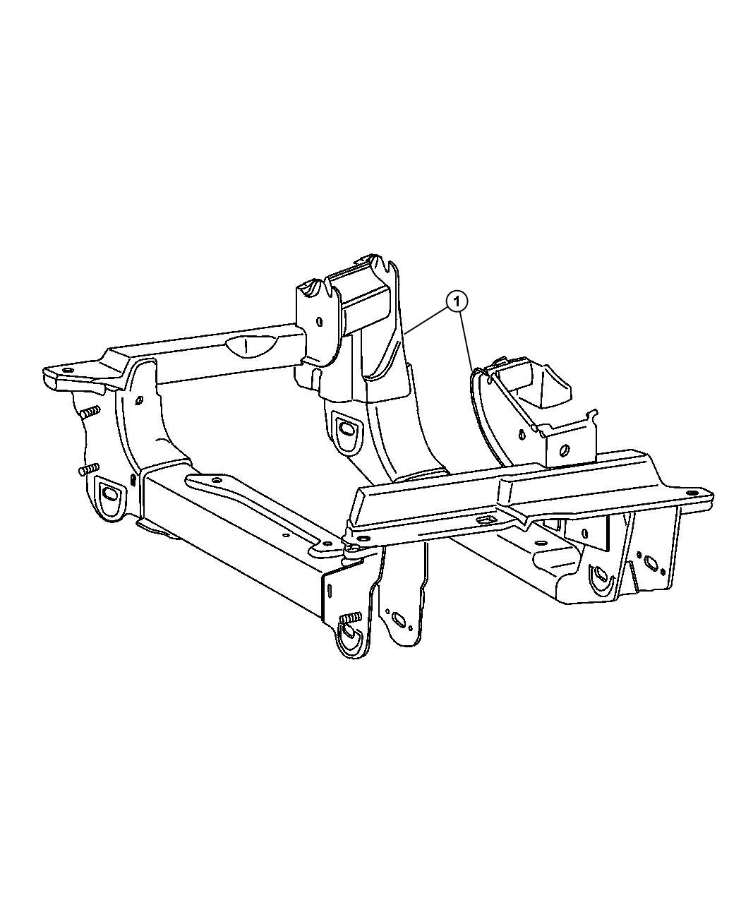 Jeep Liberty Cradle Crossmember Front Suspension