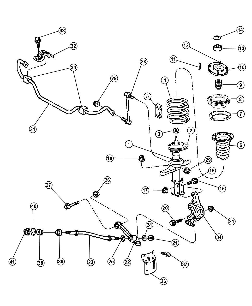 Dodge Intrepid Arm Control Left Lower Suspension