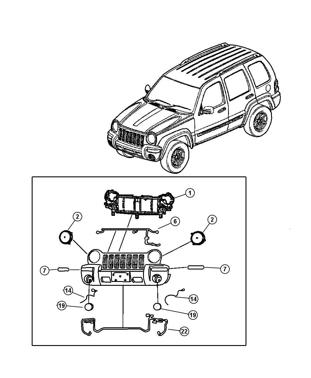 Jeep Liberty Socket Side Marker Headlamp Leveling