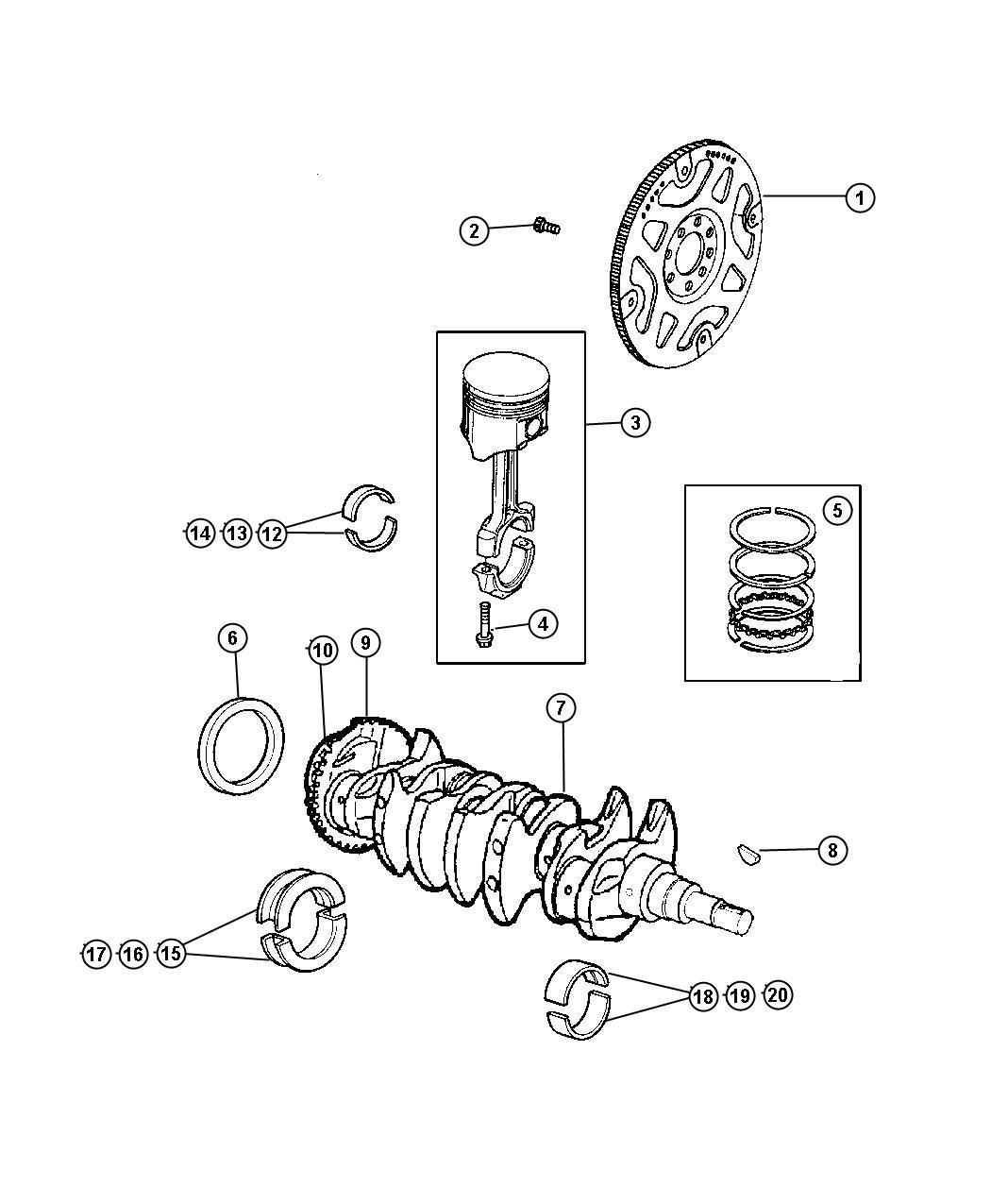 Chrysler Town Amp Country Bearing Kit Crankshaft