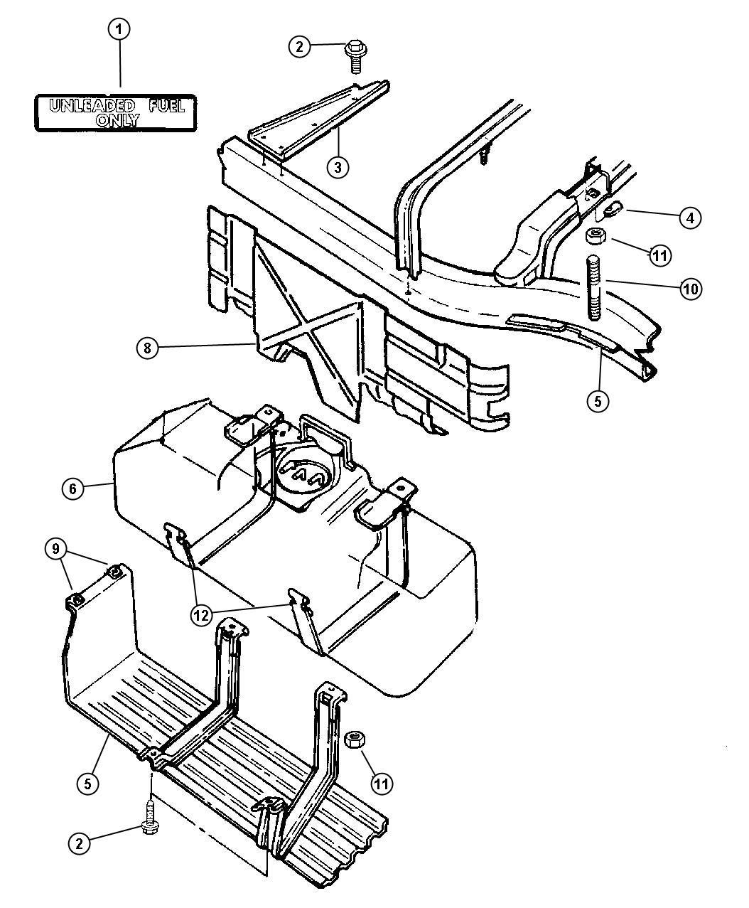 Dodge Dakota Shield Fuel Tank Gallon Engine Doors