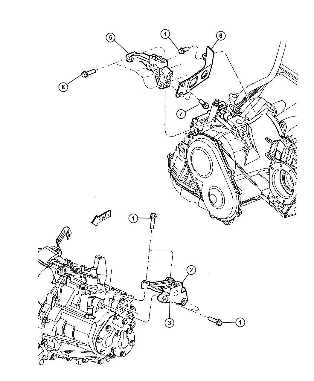 Dodge Ram Bracket Engine Mount Left Side Transaxle Side Left