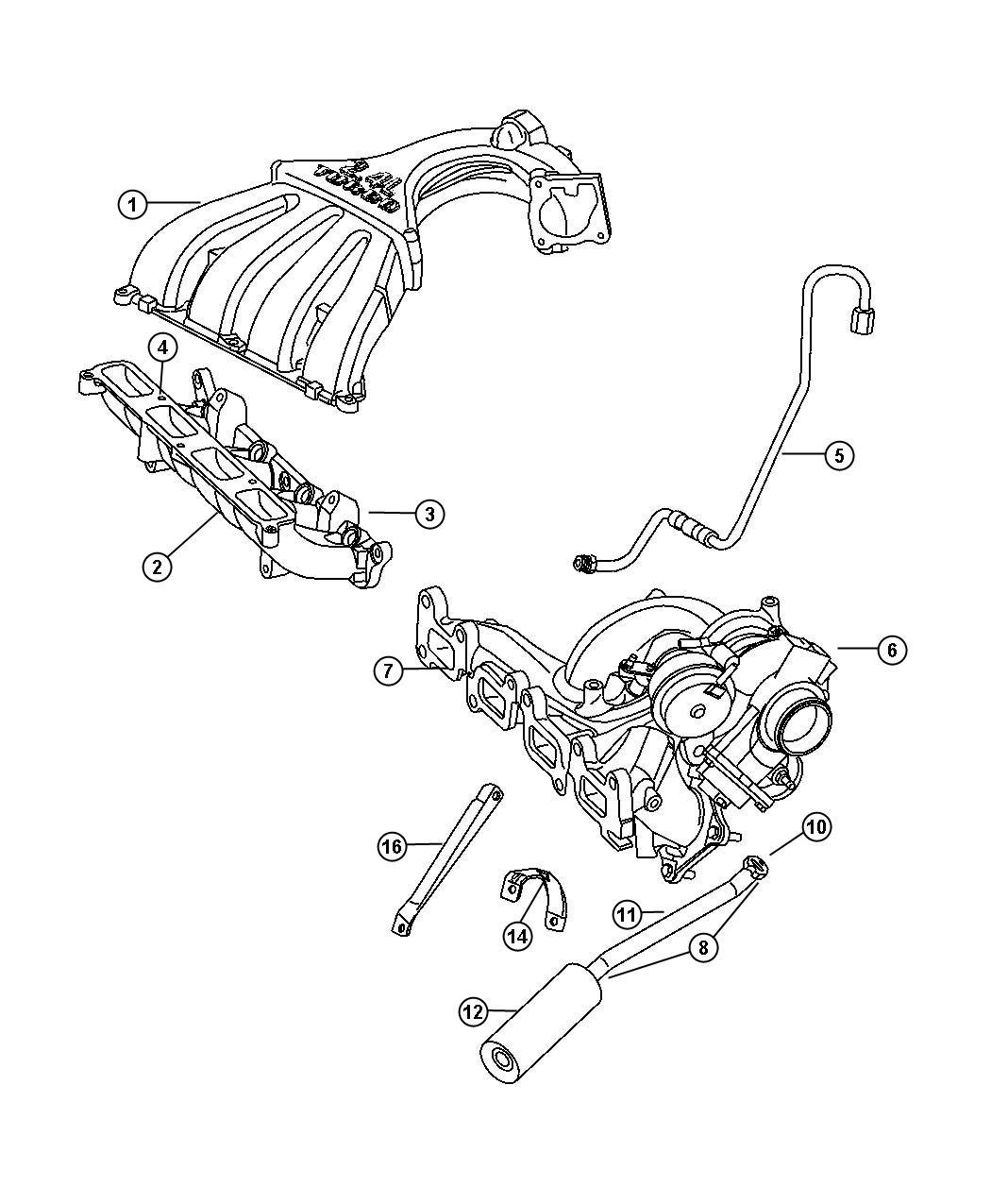 Chrysler Pt Cruiser Bolt Screw Hex Flange Head M8x1