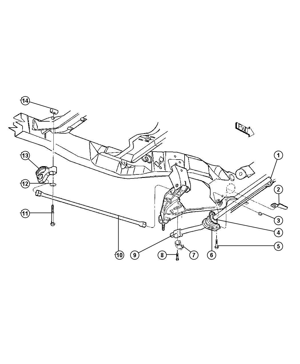 Dodge Dakota Bushing Sway Bar Outer Gvw Rating