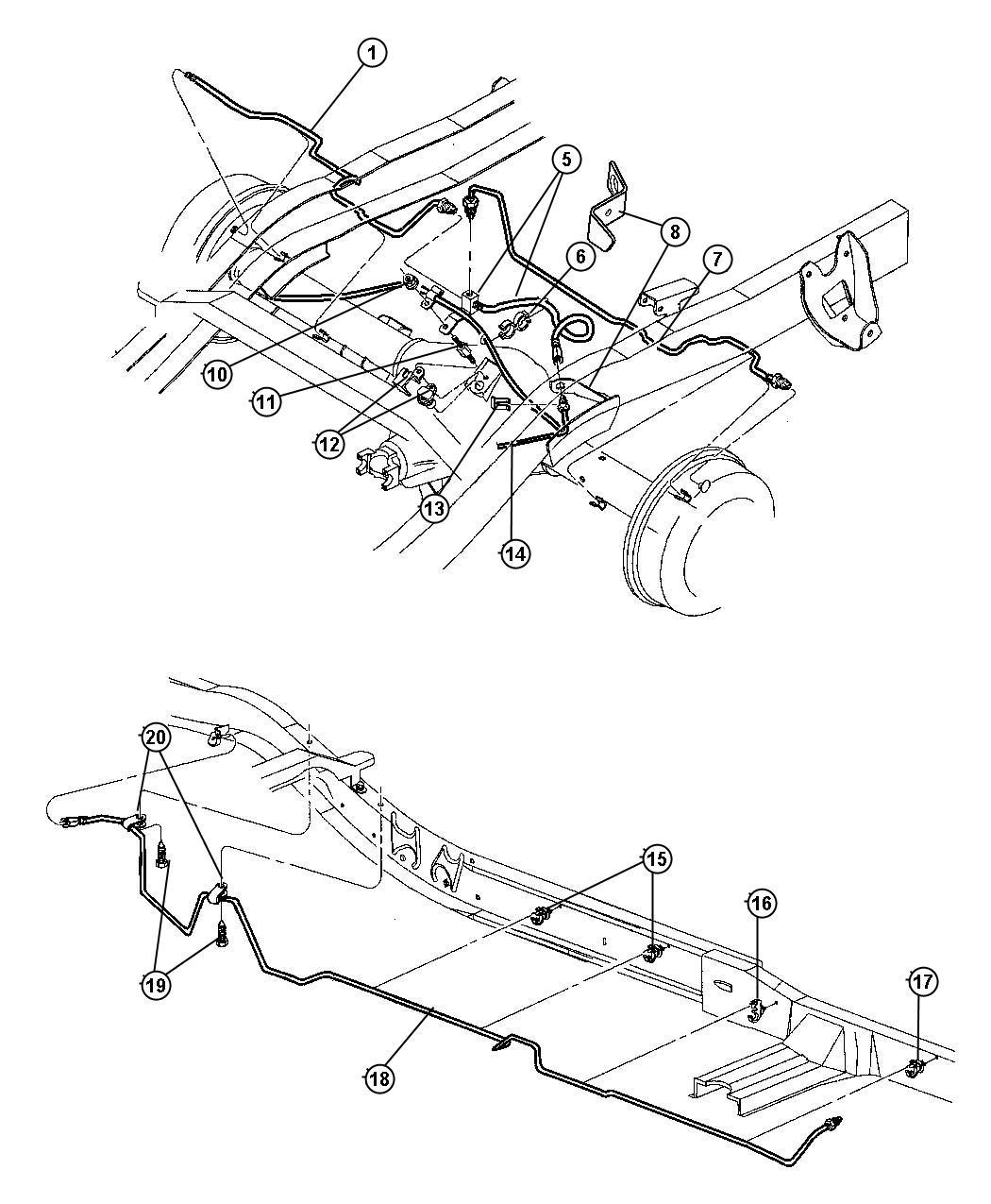 Dodge Dakota Tube Brake Rear Anti Brakes Lock