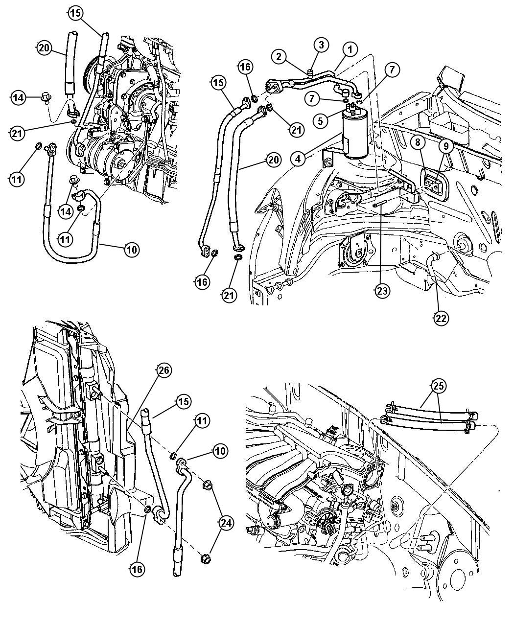 Chrysler Pt Cruiser Condenser Air Conditioning Mopar Note Marelli