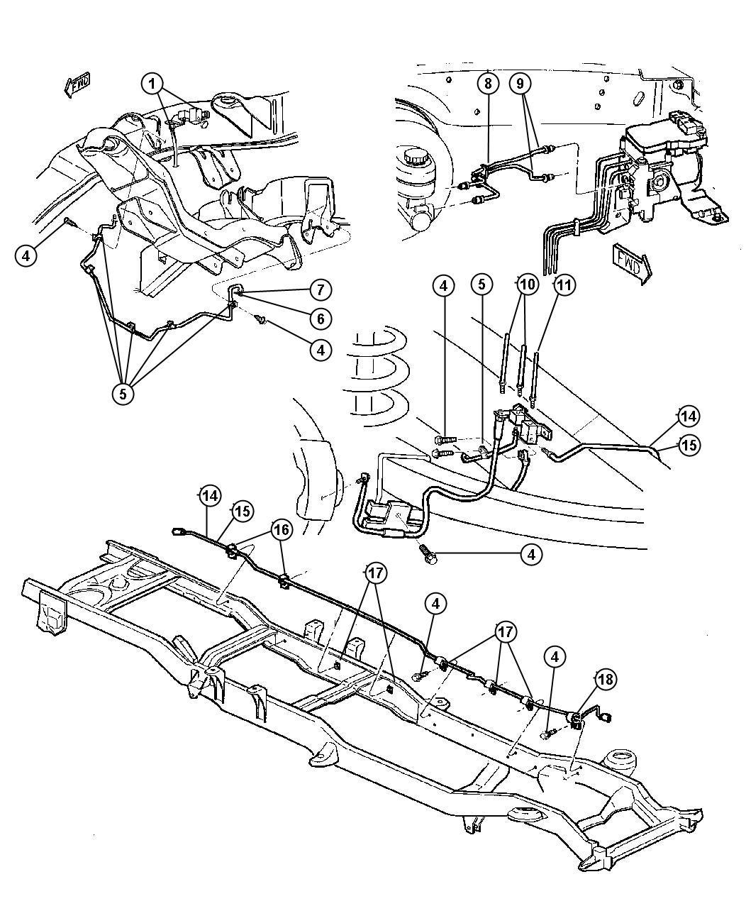 Chrysler Sebring Tube Brake Primary Rear Secondary
