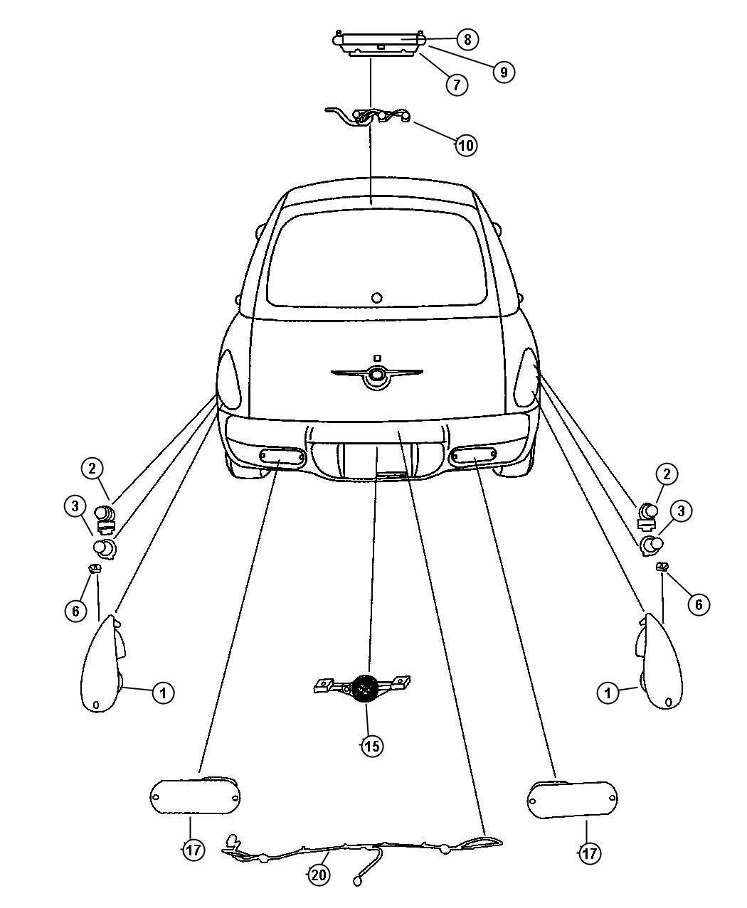 Chrysler Pt Cruiser Lamp Backup Lamps Wiring