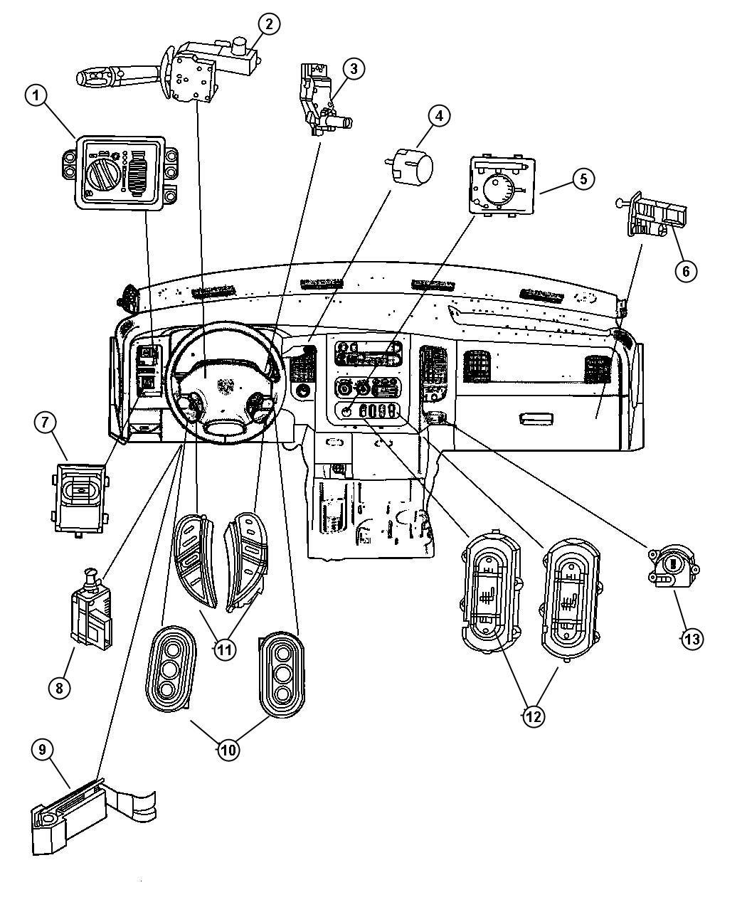 Dodge Ram Switch Transfer Case Mode Dh5 Elec Shift Fly