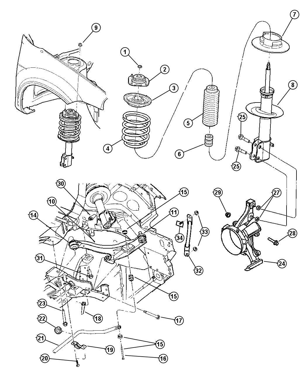 Chrysler Sebring Strut Diagram