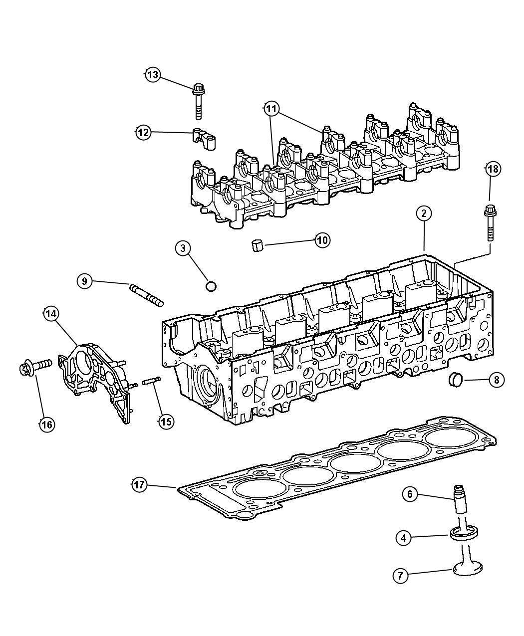 Dodge Sprinter Head Cylinder