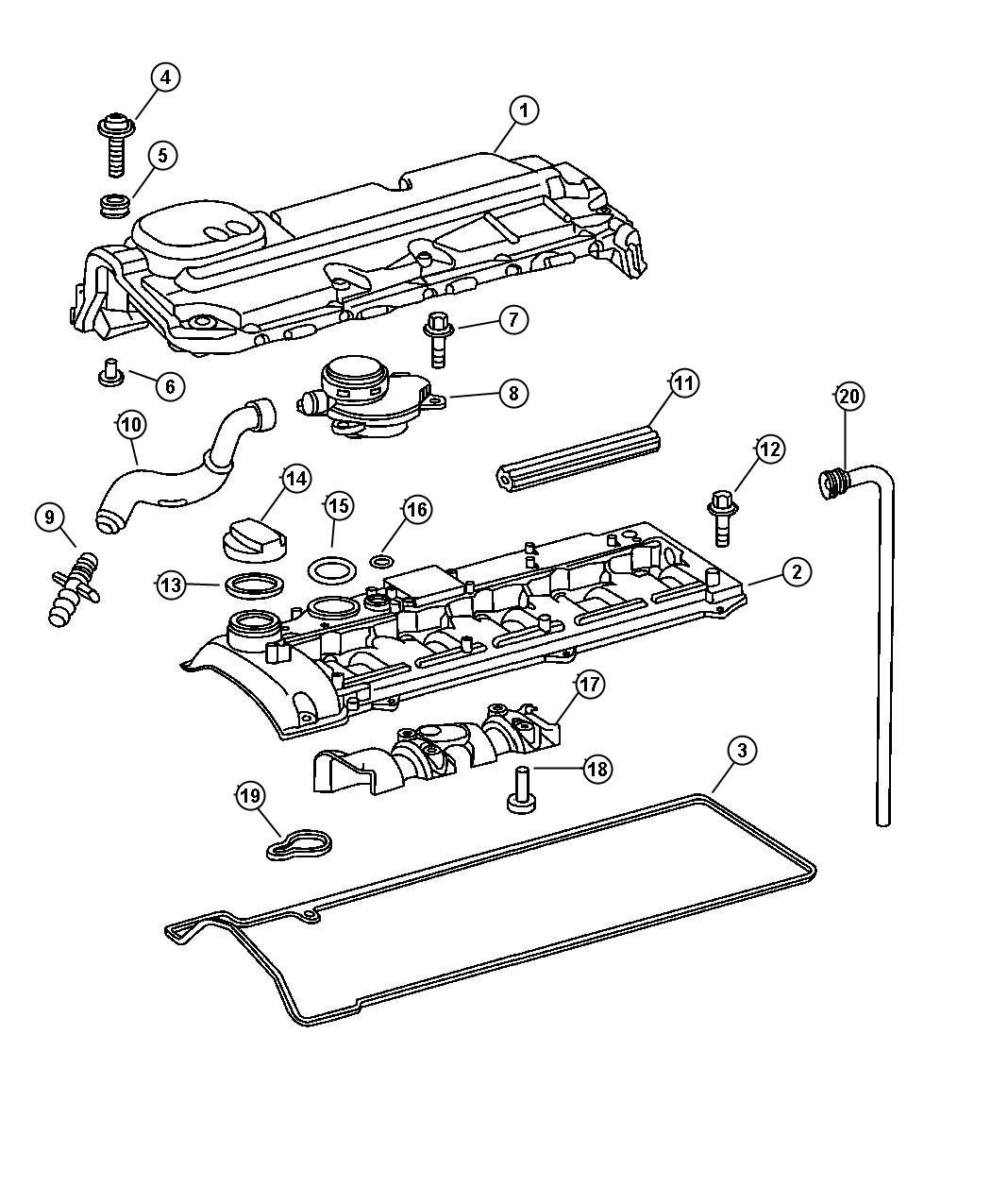 Dodge Journey Sleeve Mounting Engine Cover