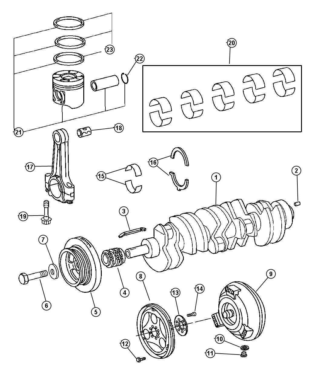 Dodge Sprinter Gear Crankshaftsel Engine