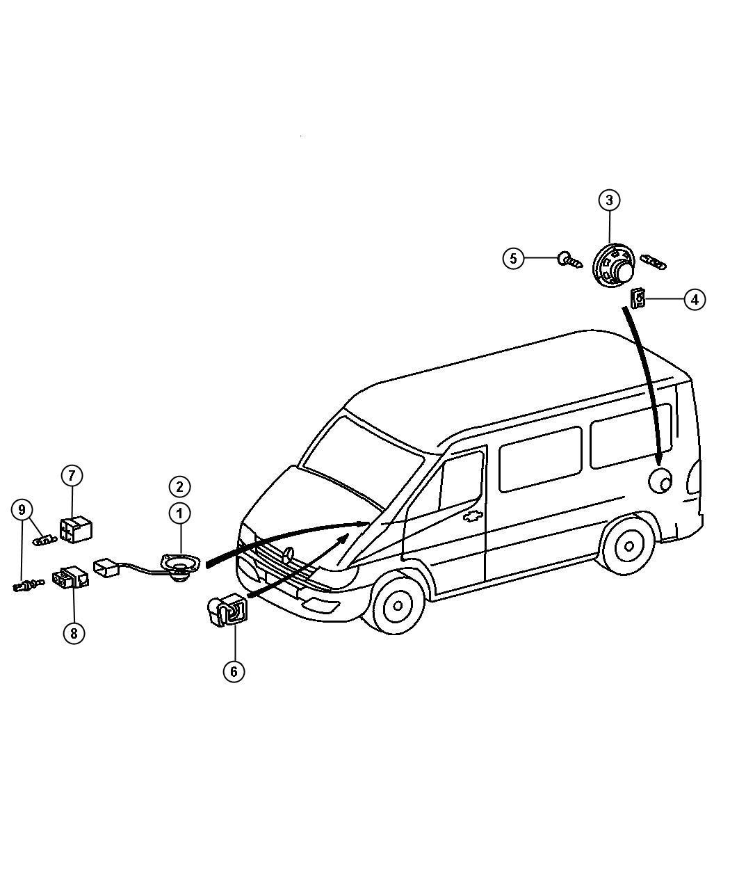 Dodge Sprinter Retainer Wiring Harness