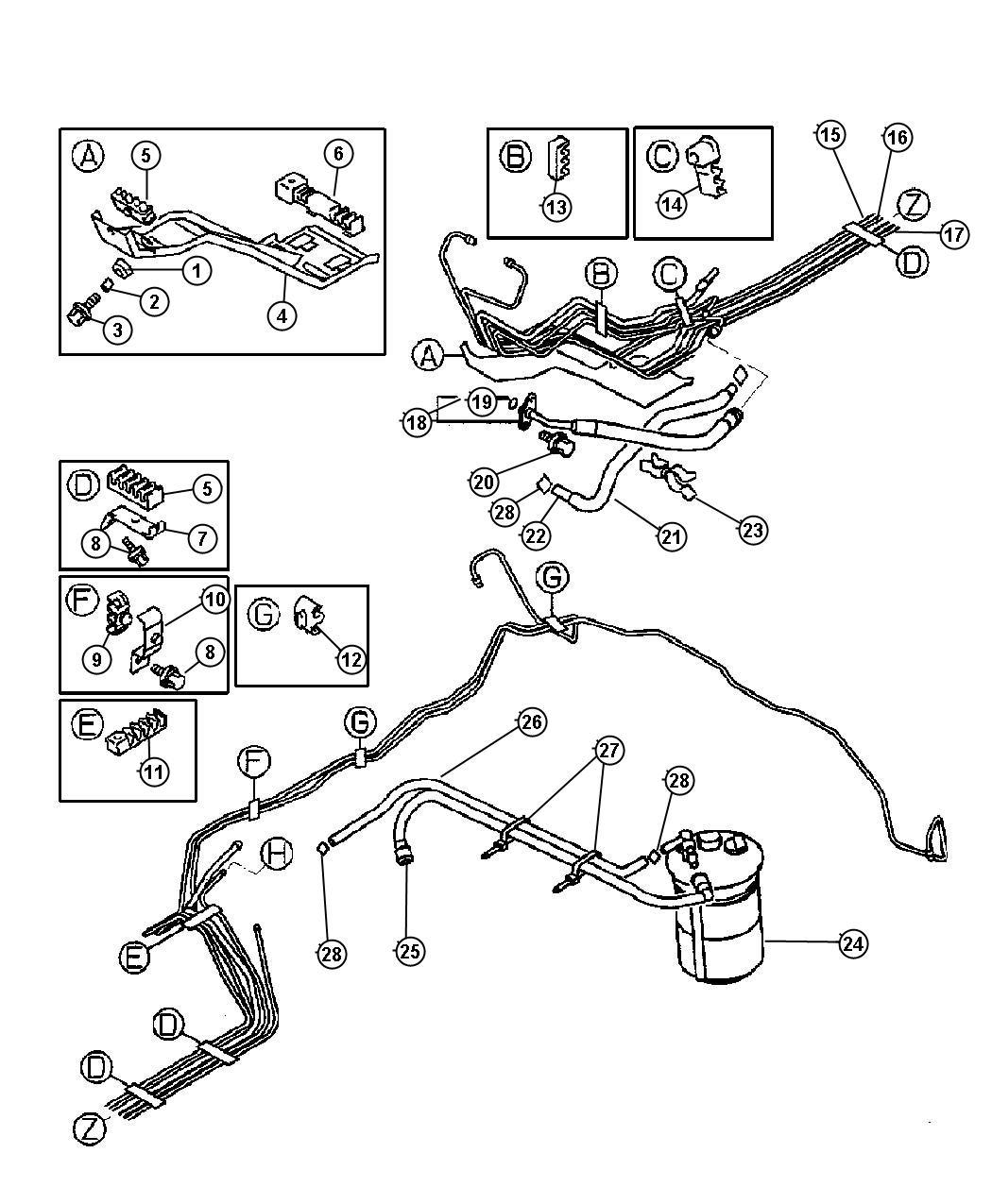 Chrysler Sebring Clip Fuel Line 4 6 2 Tube